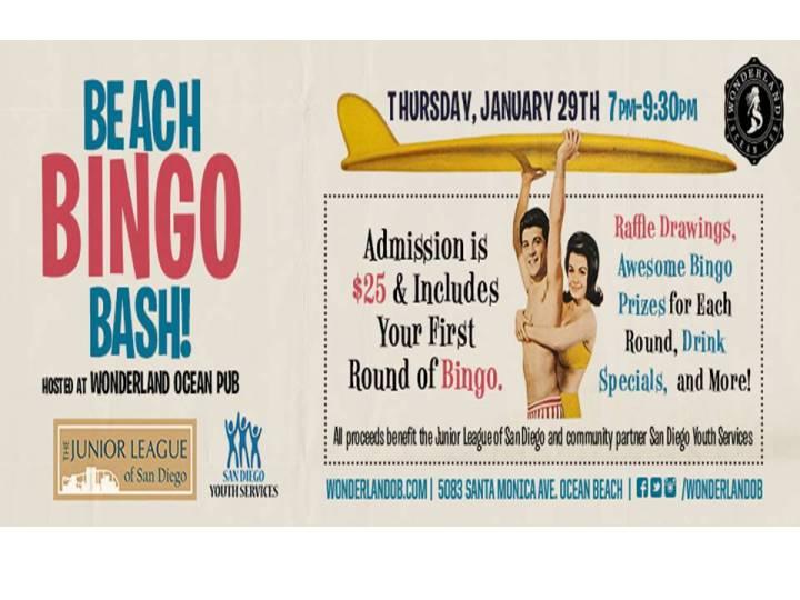 Beach Bingo Bash! January 29th @Wonderland